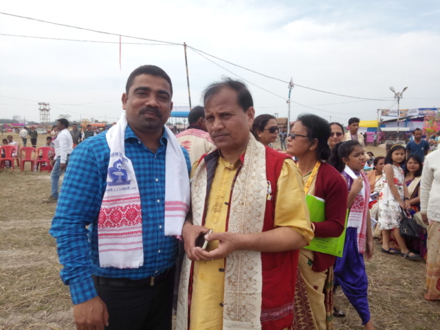 With President of Asom Sahitya Sabha