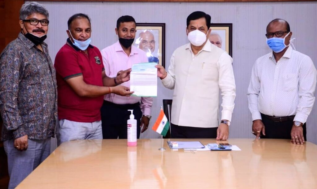 Assam cricket Association delegation calls on the Honorable chief Minister of Assam